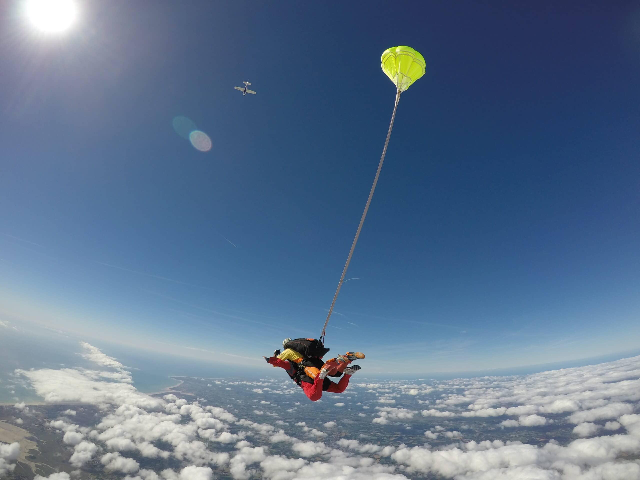 Saut en parachute tandem à Lessay